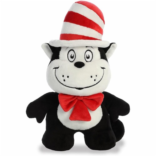 "Aurora World Dr. Seuss Cat in the Hat Dood Plushie, 11"" Perspective: front"