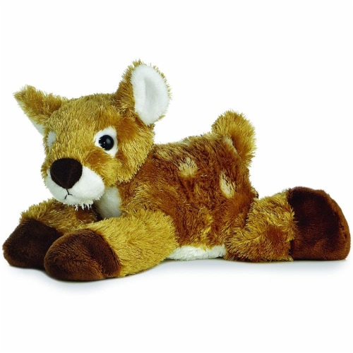 """Aurora 8"""" Mini Flopsie White-tailed Deer Fawn Perspective: front"""