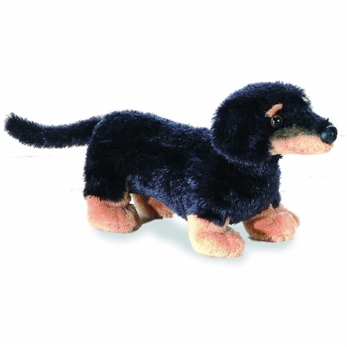 "Mini Flopsie Vienna Weiner Dog 8"" Plush by Aurora - 16636 Perspective: front"