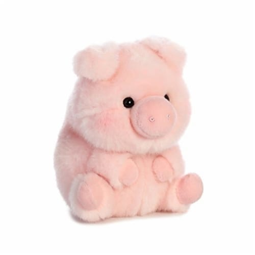Aurora World Rolly Pet Prankster Pig Plush Perspective: front