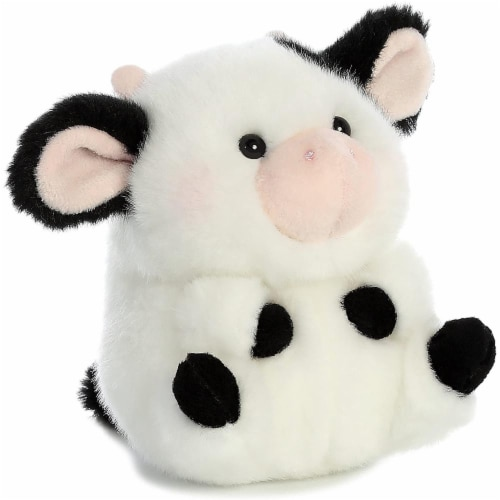 Aurora World Rolly Pet Daisy Cow Plush Perspective: front