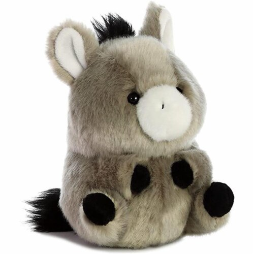 Aurora World Rolly Pet Bray Donkey Plush Perspective: front