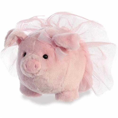 "Aurora - Blush and Glitter - 8"" Blossom Piggle Plush Perspective: front"