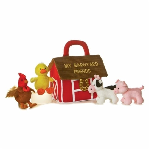 My Barnyard Friends Plush Playset with Sound by Aurora - 20434 Perspective: front