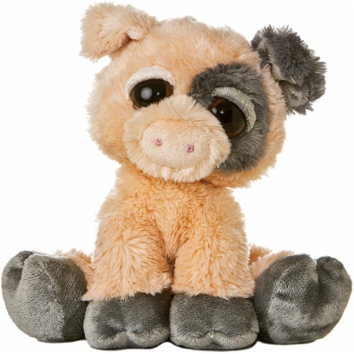 Pickles the Dreamy Eyed Pig Stuffed Animal by Aurora Perspective: front