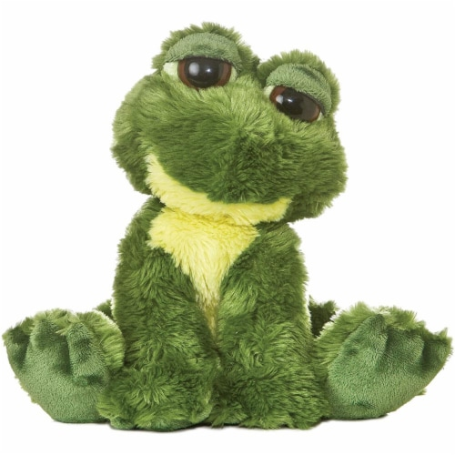 Fantabulous the Dreamy Eyed Frog Stuffed Animal by Aurora Perspective: front