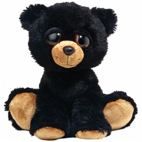 Barnam the Dreamy Eyed Black Bear Stuffed Animal by Aurora Perspective: front