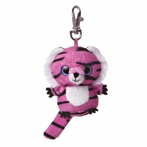 Jinxee YooHoo Plush Pink Tiger Clip On by Aurora - 29057 Perspective: front