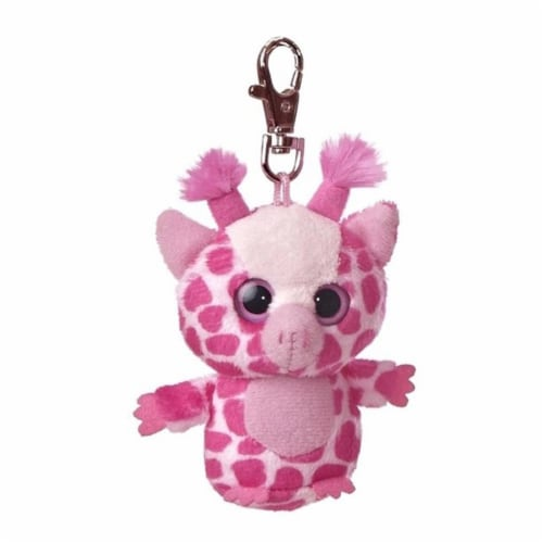Topsee YooHoo Plush Pink Giraffe Clip On by Aurora - 29063 Perspective: front
