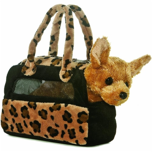 Aurora Plush Chihuahua Fancy Pals purse Perspective: front