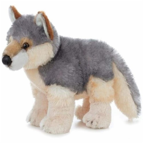"Willy 12""  Plush Wolf by Aurora - 30503 Perspective: front"