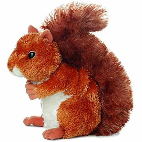 """Aurora Plush Nutsie Brown Squirrel 6.5"""" by Aurora Perspective: front"""