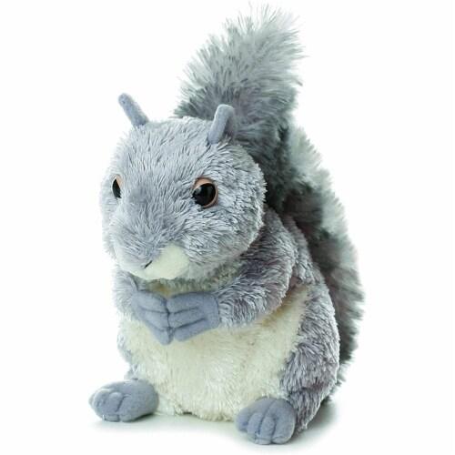 """Aurora World Mini Flopsie Plush Nutty the Gray Squirrel, 6.5"""" Perspective: front"""