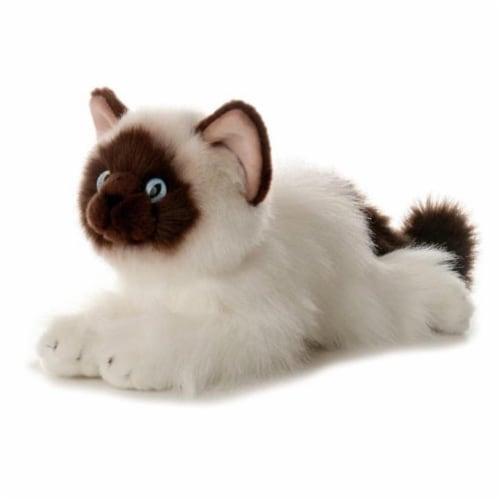 """Bella Siamese Cat 12"""" Flopsie by Aurora Perspective: front"""