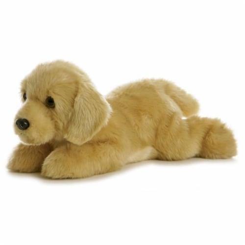 """Aurora World 12"""" Flopsie Plush Goldie the Labrador Dog Perspective: front"""