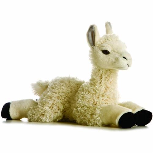 """Aurora Plush 12"""" Llama Flopsie Perspective: front"""
