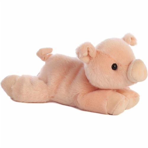 """Percy Pig Mini Flopsie 8"""" Plush by Aurora - 31180 Perspective: front"""
