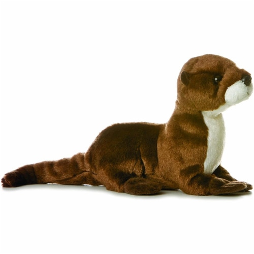 "Sliddy 8"" Mini Flopsie River Otter Plush by Aurora Perspective: front"