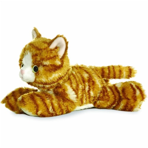 "Aurora World 8"" Mini Flopsie Plush Molly the Orange Tabby Cat Perspective: front"