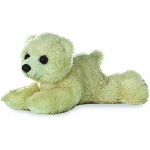 "Aurora World 8"" Mini Flopsie Plush Polar Bear Perspective: front"