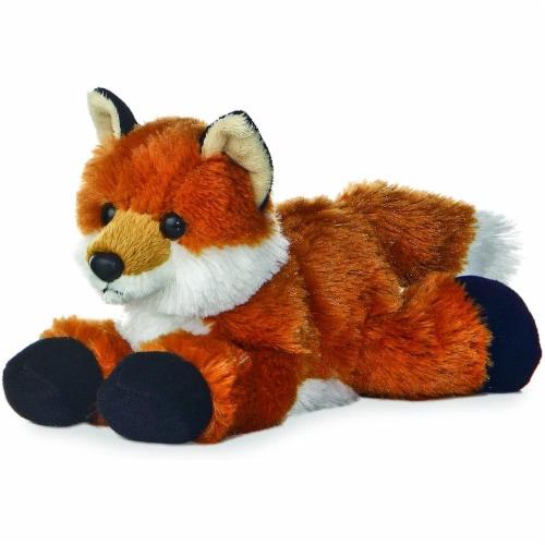 "Aurora Foxie Fox 8"" Mini Flopsie Stuffed Animal Perspective: front"