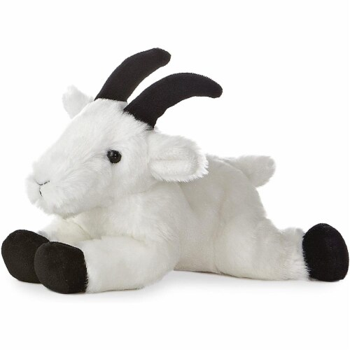 "Aurora World 8"" Mini Flopsie Plush Rocky Mountain Goat Perspective: front"