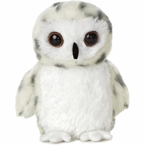 "Snowy Owl 8"" Mini Flopsie by Aurora Perspective: front"