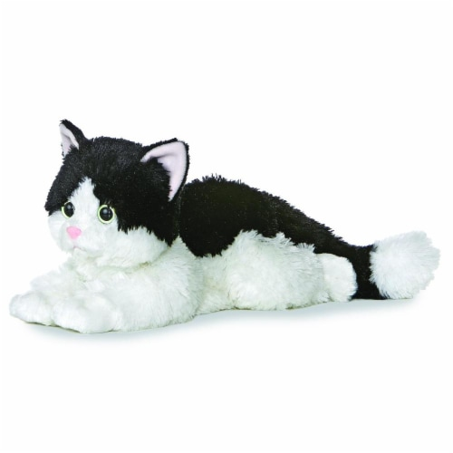 """Oreo The Cat Flopsie 12"""" Plush by Aurora - 31420 Perspective: front"""
