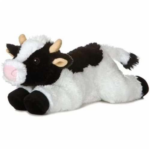 "May Bell Cow Flopsie 12"" Plush by Aurora - 31430 Perspective: front"