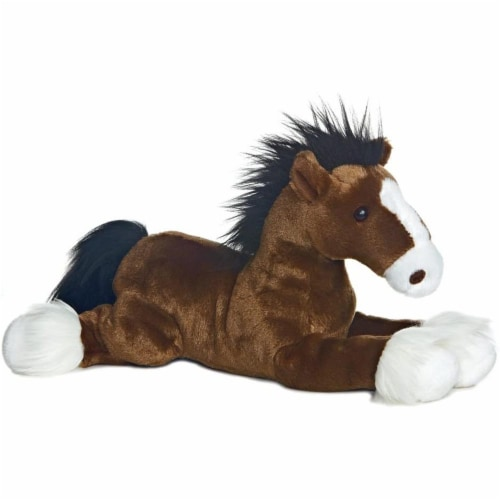 """Captain the Horse Flopsie 12"""" Plush by Aurora - 31474 Perspective: front"""