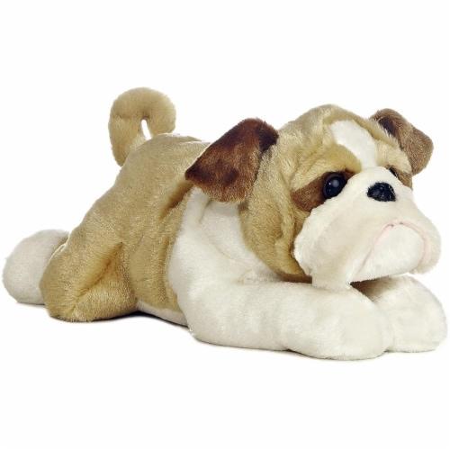 """Aurora Plush 12"""" Wills the Bulldog Flopsie Perspective: front"""