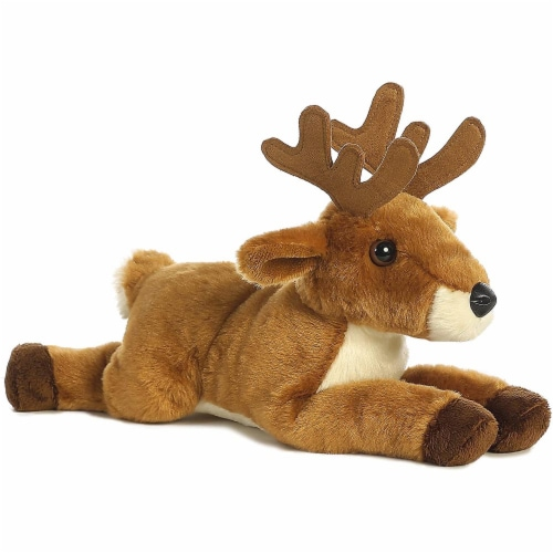 Aurora World Flopsie Animal Plush, White Tailed Buck Perspective: front