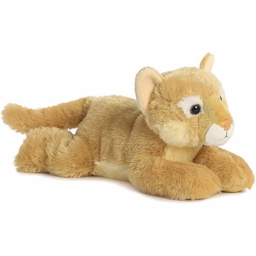 "Cougar 12"" Flopsie Stuffed Animal by Aurora Perspective: front"