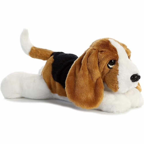"Aurora World Flopsie Toy Basset Hound Plush, 12"" Perspective: front"
