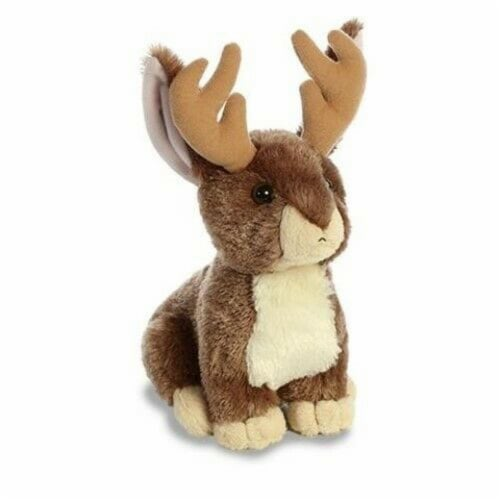"Aurora World Flopsie Plush Toy Animal, Jackalope, 12"" Perspective: front"