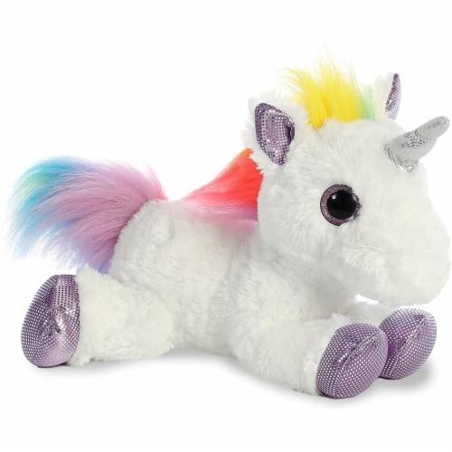 """Aurora World Rainbow Unicorn Flopsie, 12"""" Perspective: front"""