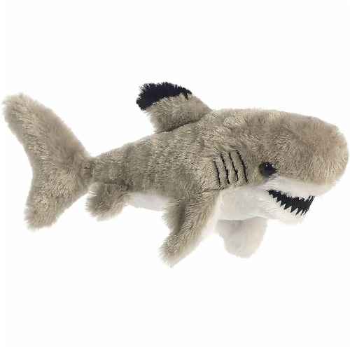 Black Tipped Shark Mini Flopsie Stuffed Animal by Aurora Perspective: front