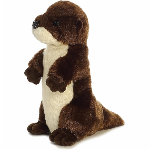 "River Otter Mini Flopsie 8"" by Aurora Perspective: front"