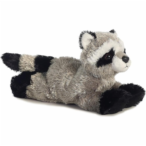 "Rascal Raccoon Mini Flopsie 8"" by Aurora Perspective: front"