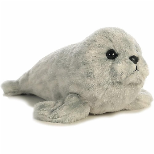 "Harbor Seal Mini Flopsie 8"" by Aurora Perspective: front"