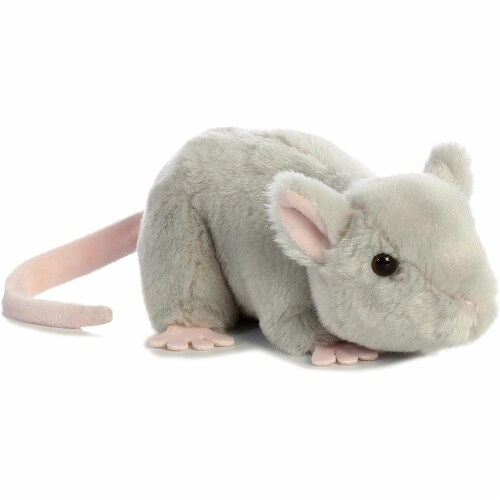 """Aurora 31731 Mouse Stuffed Animal Plush Toy, 8"""", Grey Perspective: front"""