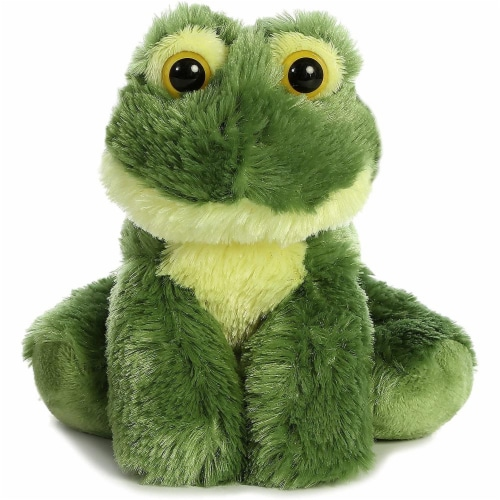 "Aurora 31735 Frolick Frog Stuffed Animal Plush Toy, 8"" Perspective: front"