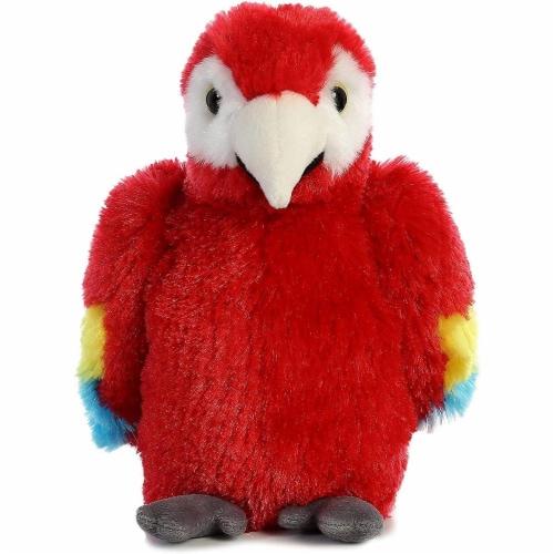 "Aurora World Mini Flopsie Toy Scarlet Macaw Parrot Plush, 8"" Perspective: front"