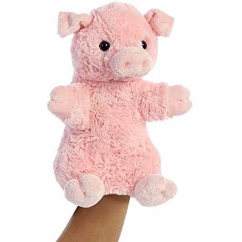 Aurora World Pinky The Pig Hand Puppet Plush, Pink Perspective: front
