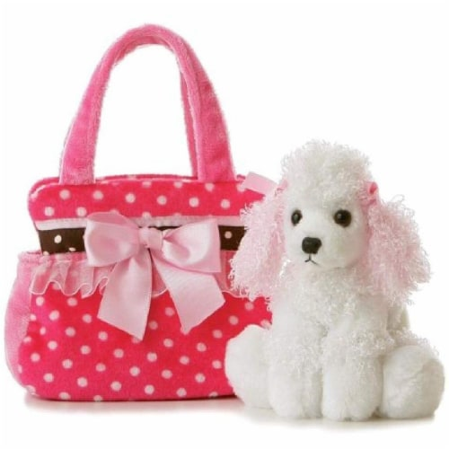 Fancy Pals Fancy Pink Polka Dot 8 Inch Pet Carrier Perspective: front