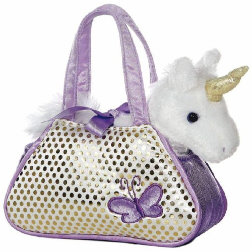 "Aurora Unicorn Fancy Pal Pet Carrier 8"" by Aurora Perspective: front"
