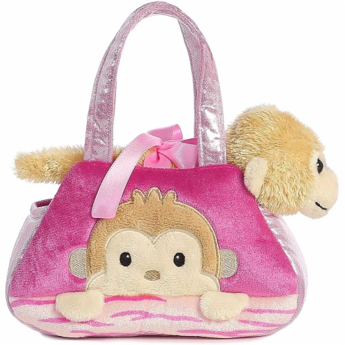 Fancy Pals Peek-A-Boo Monkey 7 Inch Pet Carrier Perspective: front