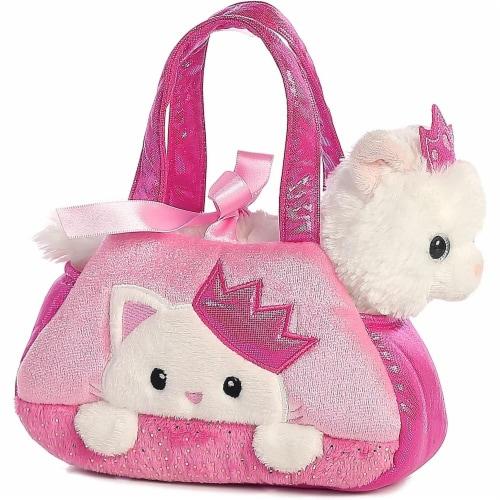 Peek-A-Boo Princess Kitty Stuffed Animal Purse by Aurora Perspective: front