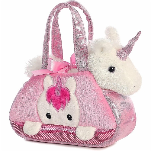 Aurora World Fancy Pals Pet Carrier, Peek-A-Boo Unicorn Perspective: front