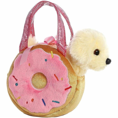 Aurora World Fancy Pals Pet Carrier Yummy Donut & Puppy Plush Perspective: front